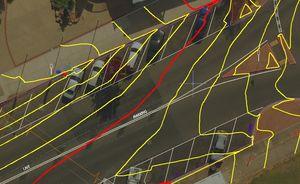 DroneUAV orthophoto + contour lines